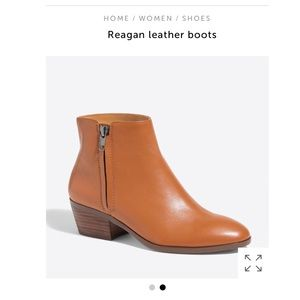 J. Crew Reagan Leather Ankle Boots
